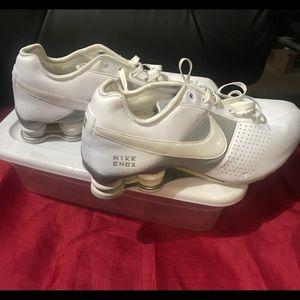 Nike Women's All White Leather Shox 10